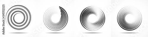 Set of abstract dotted circles Slika na platnu