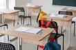 Leinwanddruck Bild - Interior of modern empty classroom