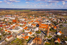 Aerial View Of Zmigrod City, P...