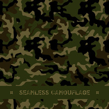 Seamless Vector Forest Camoufl...