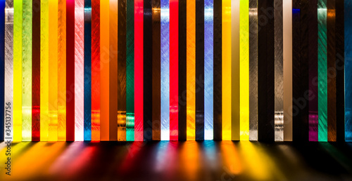 Foto light through Stack of different colours Cast Acrylic Sheet