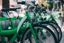 Perspective Of Green City Bike...