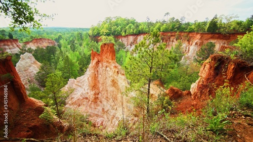 Providence Canyon State Park Ariel View Canvas Print