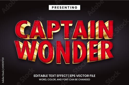 Fotografía Captain wonder - Superhero movie logo style editable text effect