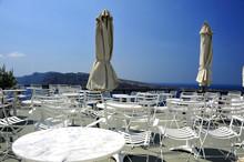Terrasse Vide De Santorin
