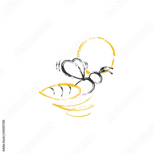 Photo Abstract bee icon vector image