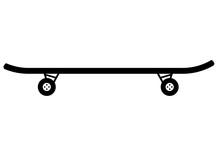 Skateboard. Vector Flat Icon I...