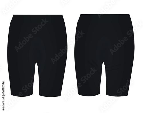Obraz Black woman cycling shorts. vector illustration - fototapety do salonu