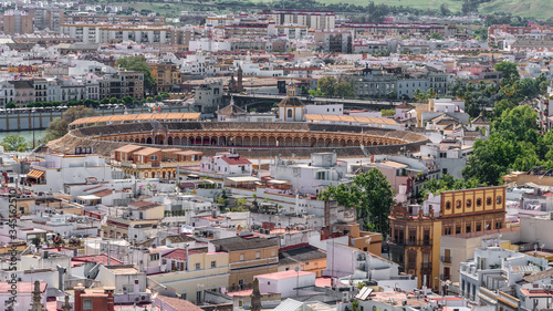 Photo the bullfight arena from above