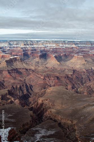Snowy Grand Canyon landscape