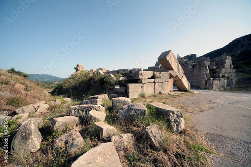 Panoramic view of the Arcadia Gate ,Peloponnese,Greece Canvas Print