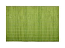 Green Bamboo Wood Mat On White