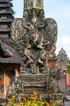 Carved Stone Statue At Pura Ta...