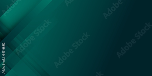 Valokuva Modern 3D green dark background for presentation design