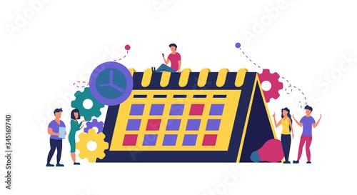 Photo Calendar schedule week vector concept illustration