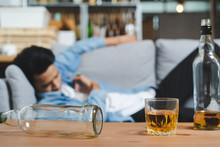 Alcoholism Concept. Young Man ...