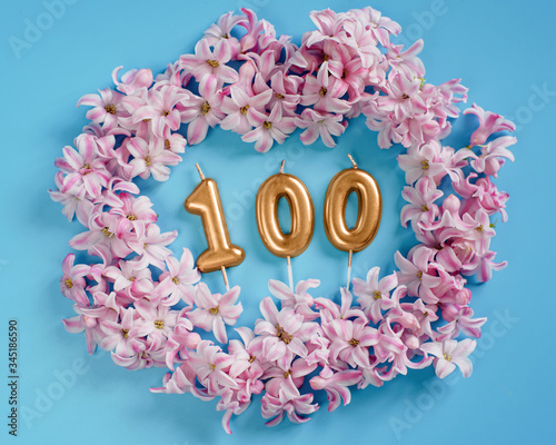 100 followers card Slika na platnu