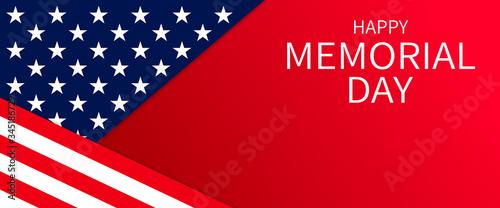 Obraz na plátně USA Memorial Day banner background
