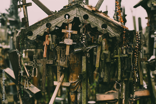 Photo The Hill of Crosses in Lithuania
