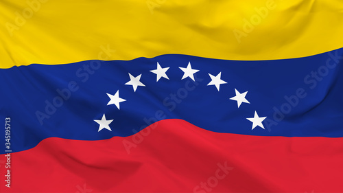 Fragment of a waving flag of the Republic of Venezuela in the form of background Canvas-taulu