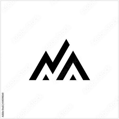 Fototapeta letter N abstract and mountain logo obraz