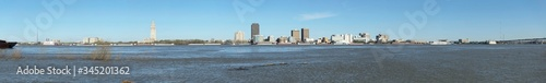 Large resolution panoramic view of the Baton Rouge skyline from across the Missi Wallpaper Mural