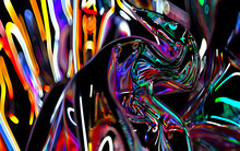 3d Render Of Abstract Art Of S...