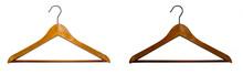 Two Wooden Coat Hangers Of Dif...