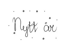 Nytt år Phrase Handwritten With A Calligraphy Brush. New Year In Swedish. Modern Brush Calligraphy. Isolated Word Black