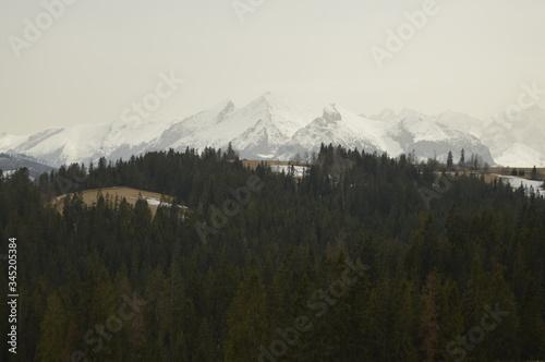 Widok na piękne polskie góry
