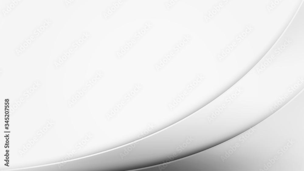 Fototapeta 白い波形の抽象的な背景
