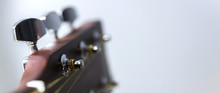 The Upper Part Of The Classical Guitar, Metal, Shiny Tunes, Guitar Detail.