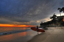 Paddleboarder Standing At The ...