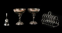 Silver Vintage Cups With A Bel...
