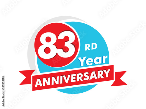 Papel de parede 83 years anniversary logotype