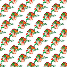 Seamless Pattern. Strawberry B...
