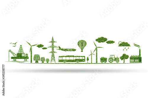 Photo Environment and ecology in green concept - 3d illustration