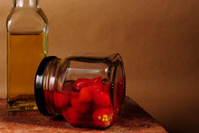 Olive Oil And Canned Red Peppers