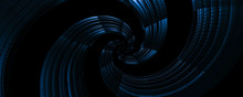 3d Abstract Twirl Blue Backgro...