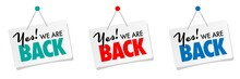 Yes! We Are Back