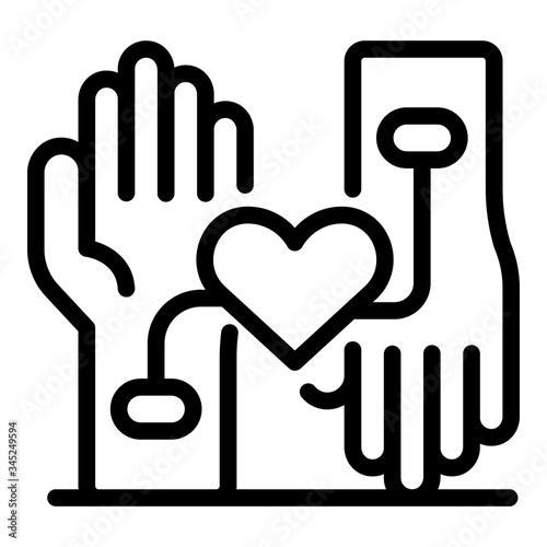Fotografie, Tablou Heart rate measurement icon