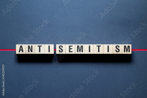 Anti - Semitism word concept on cubes Canvas Print