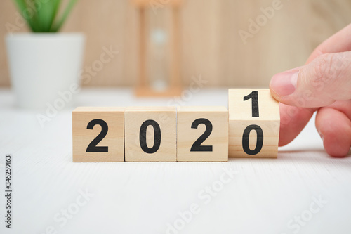 The concept of changing the year from 2020 to 2021 and the results of operations.