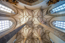 View Of The Ribbed Vaulting Of...