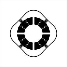 Lifebuoy Icon, Life Saving Buoy, Life Saver Tube Icon, Ring Buoy, Lifering, Lifesaver, Life Donut, Water Wheely