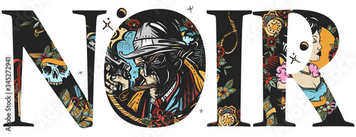 Noir slogan Canvas Print