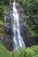 Scenic waterfall in the forest in rural Kenya, Aberdare Ranges, Kenya