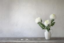 White Chrysanthemum In Jug On ...