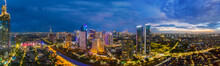 Panoramic View Of Night Time A...