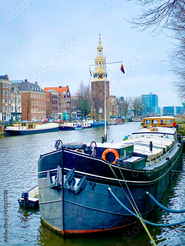 Photo Amsterdam The Netherlands historical city center and canals